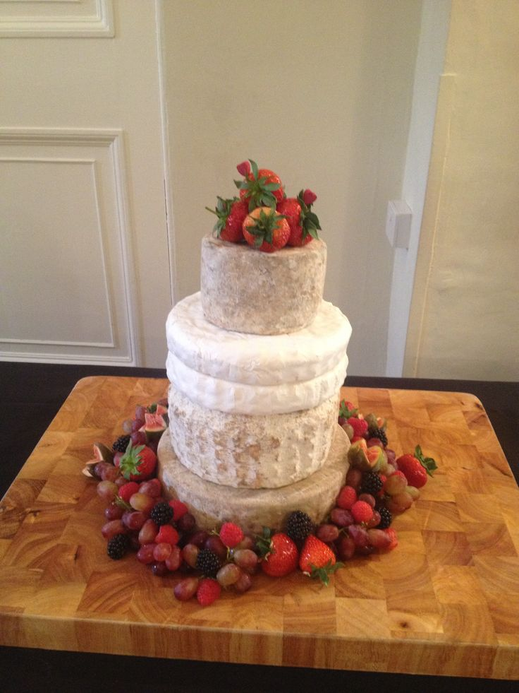 Personalised soft cheese stack #wedding #cake