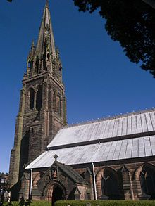 St. Giles' Church is a Roman Catholic church in the town of Cheadle, Staffordshire, England. The Grade I listed church[1] was designed by Augustus Welby Northmore Pugin.