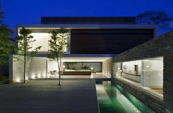 House M Stylish Houses Modern Architecture Contemporary Stone House 2 |  Stone | Pinterest | Stone Houses, Modern Architecture And Architecture Nice Look
