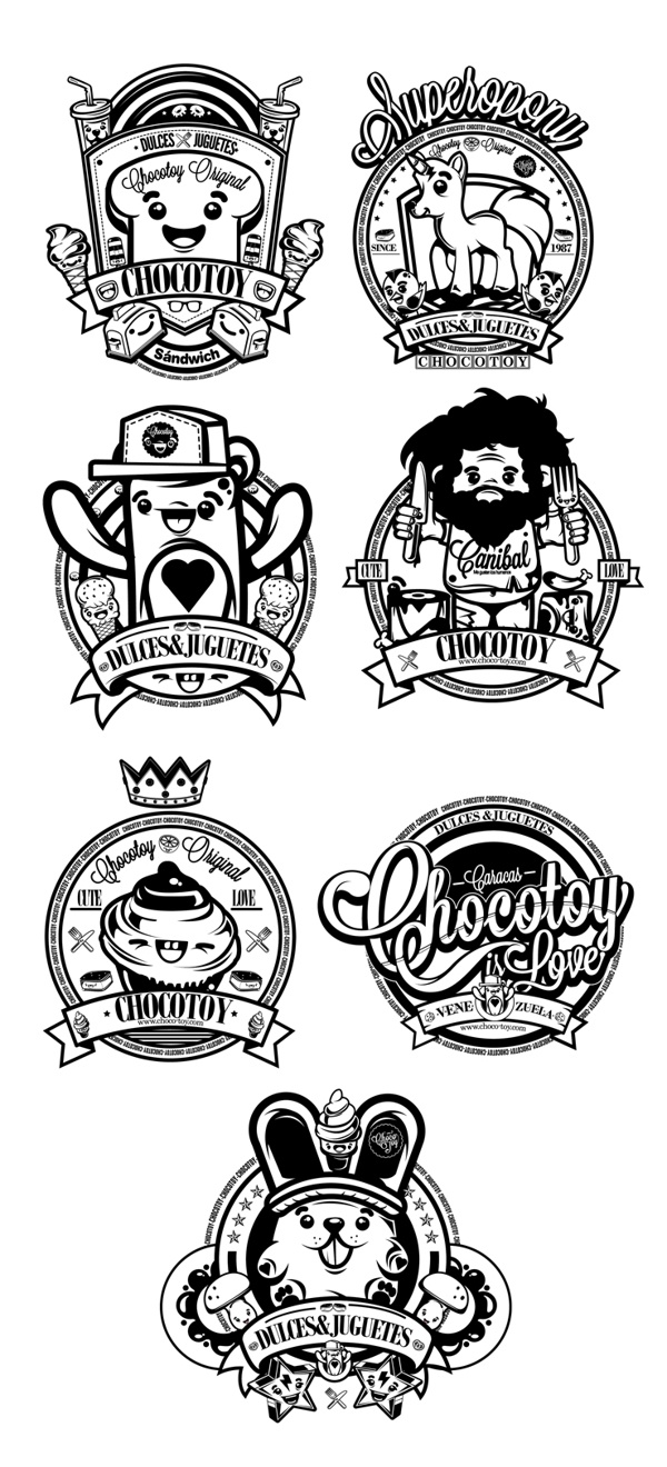 Logos by ChocoToy , via Behance