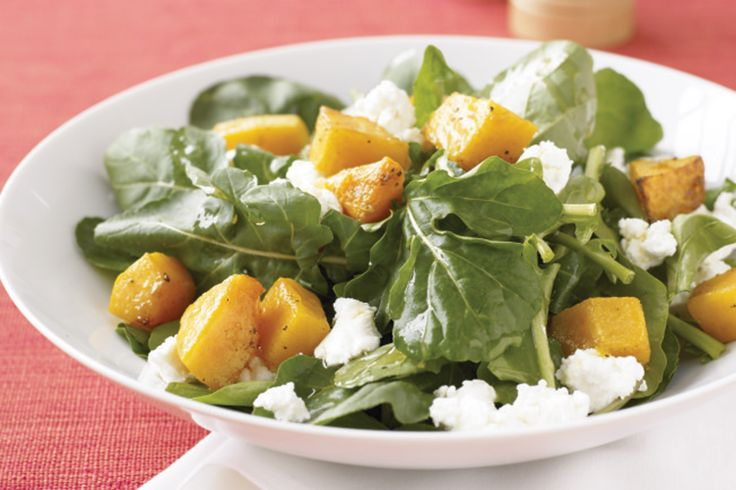 Goat's cheese is the perfect pairing with this light and easy salad.