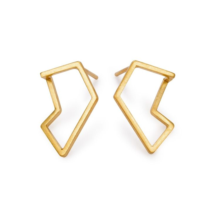 Silver and 24k gold plated earrings, handmade by Kasia Wójcik