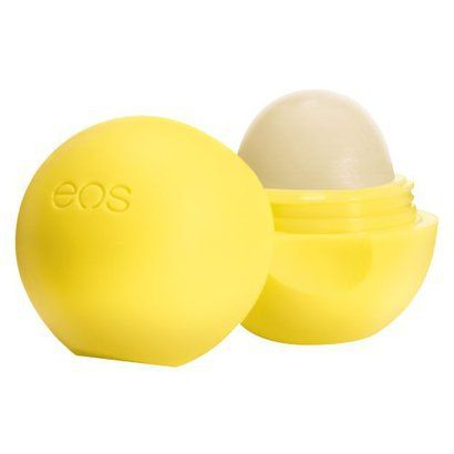 """eos lip balm in lemon drop.  I've tried a few of the other """"flavors"""", but lemon hands down is my favorite. Plus, I believe it's only one that's SPF15."""