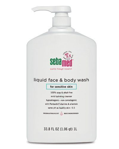 SebaMed face and body wash for sensitive skin. PH balanced. Instantly gets rid…