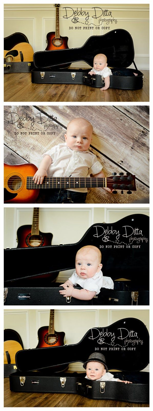 Debby Ditta Photography: Baby J at 4 Months Guitar music baby at 4 month session.  Debby Ditta Photography  Debby Ditta Photography  newborn baby session.  Tomball, Cypress, The Woodlands, Spring, Texas photographer.