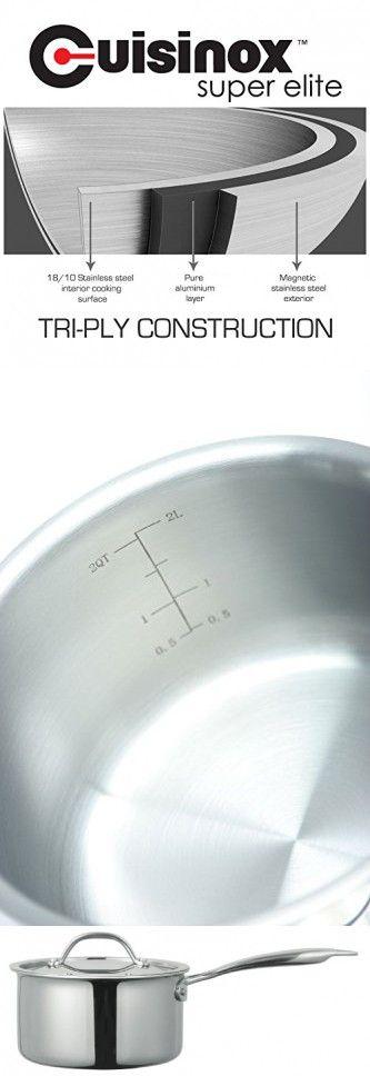 Cuisinxo POT-416 Super Elite Covered Saucepan, 1.9-Liter