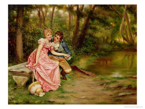 The Lovers by Joseph Frederic Charles Soulacroix  |