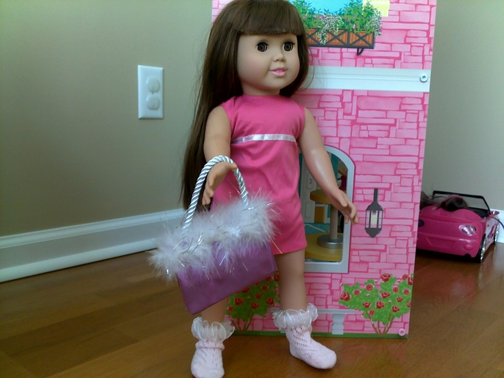 """AG doll purse (found these """"gift card bags"""" at the dollar tree store for a dollar) perfect size for AG doll"""