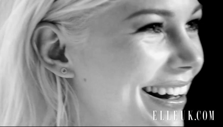 Michelle Williams wearing the diamond hug studs for Elle Uk.