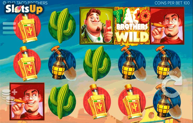 Witness spicy Mexican adventures and fight for justice in the Taco Brothers #freeslot! The creator of this wonderful 5-reel, 243-line video slot is the #ELK, which introduces us the feature-packed Mexican game. Four Wild symbols, free spins, Scatters, multipliers and action-packed gameplay. Meet three brothers, Captain Diaz, Senorita and other characters of this slot while playing it is www.SlotsUp.com.
