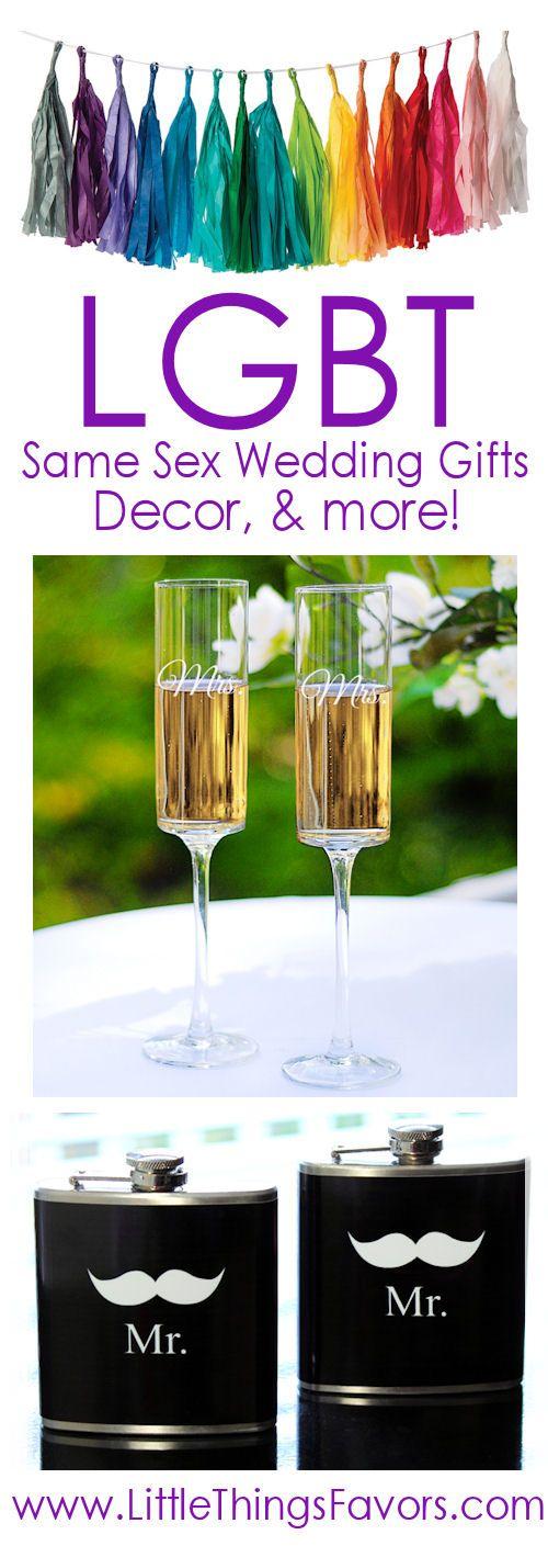 Same sex wedding gifts + LGBT decor for your wedding! #LoveWins