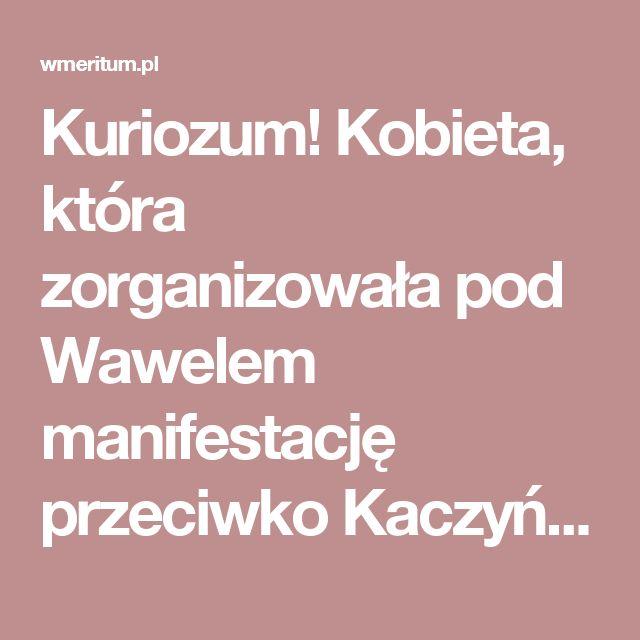 Kuriozum! Kobieta, która zorganizowała pod Wawelem manifestację przeciwko Kaczyńskiemu... skarży się na prawicowy hejt | wMeritum.pl