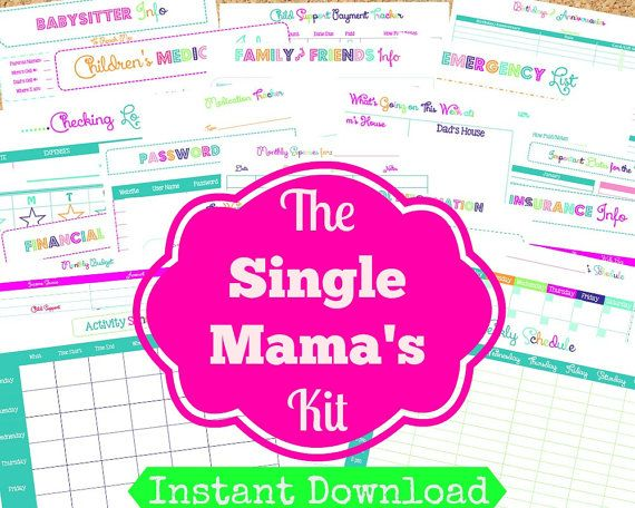 INSTANT Download SINGLE Mom Planner 24 Editable by OrganizedWhimsy, $15.00