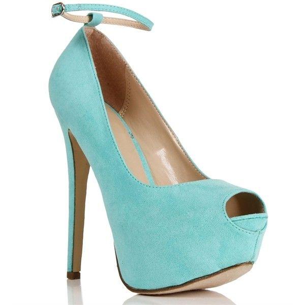 Mint Open Toe Pump ($9) ❤ liked on Polyvore featuring shoes, pumps, heels, sapatos, high heels, mint pumps, open-toe pumps, open toe shoes, platform shoes and high heel platform pumps