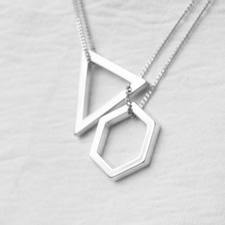 THE BOYSCOUTS 'Cosmic' silver Love the mix of different shapes when it comes to jewelry.