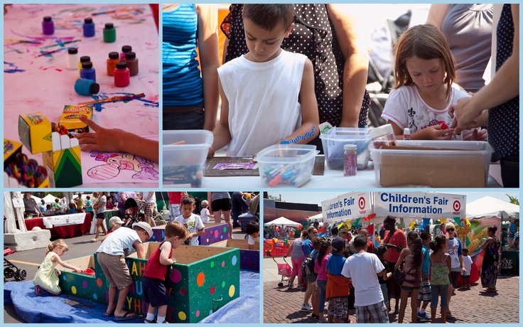 Fun and creative activities for the youngest art patrons in the Children's Fair at the 2012 Omaha Summer Festival!