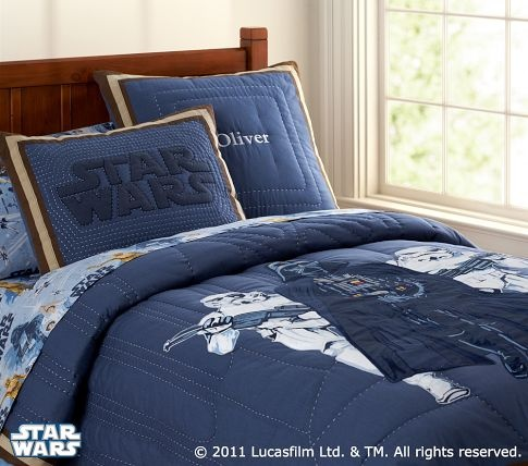To bad my mom wont let me have star wars bedding...