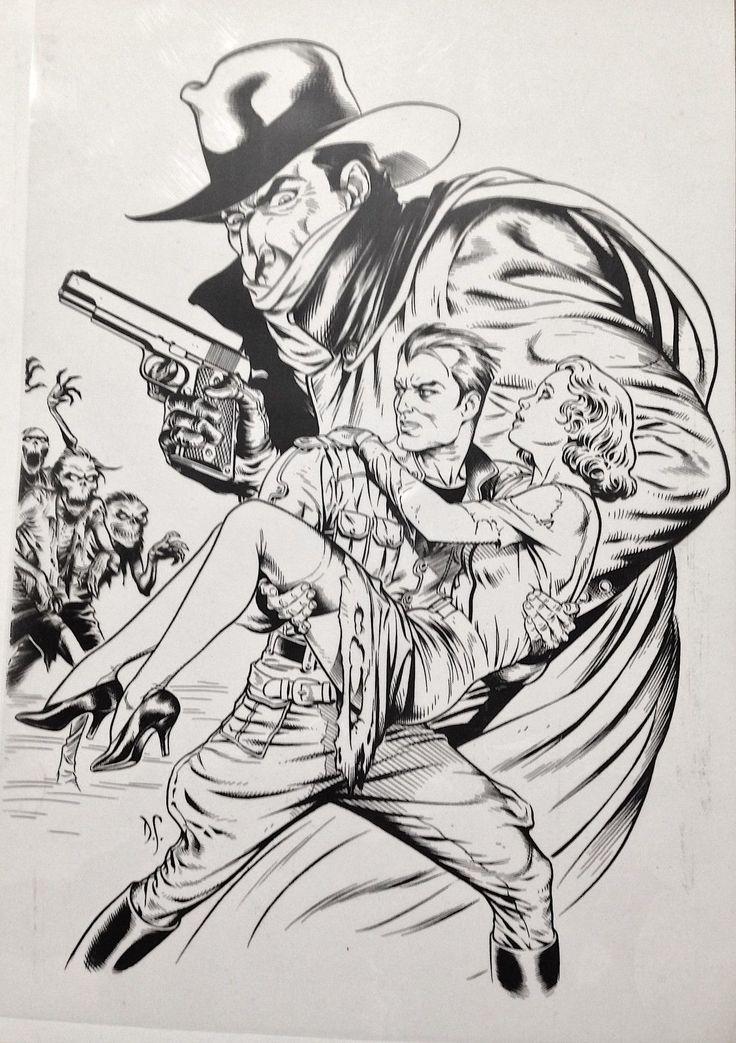 SHADOW & DOC SAVAGE #1 DAVE STEVENS COVER ART TRANSPARENCY VF   eBay