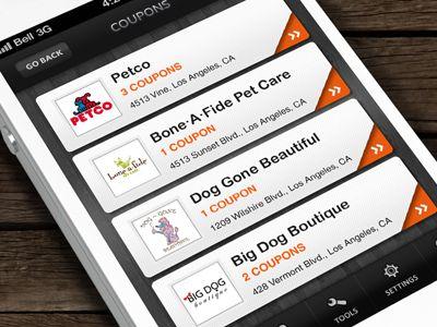 Dribbble - iPhone App - Coupons by Anke Mackenthun