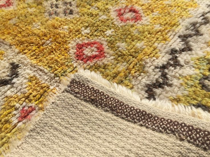 Detail swedish rya rug #rug #rya