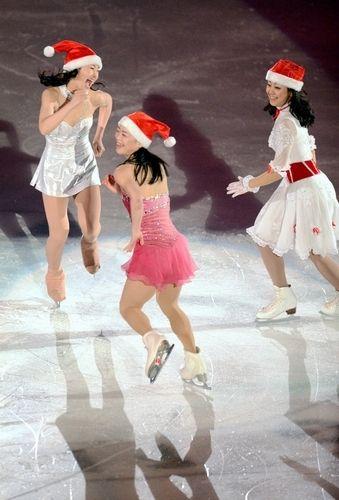 Kanako Murakami, Akiko Suzuki and Mao Asada
