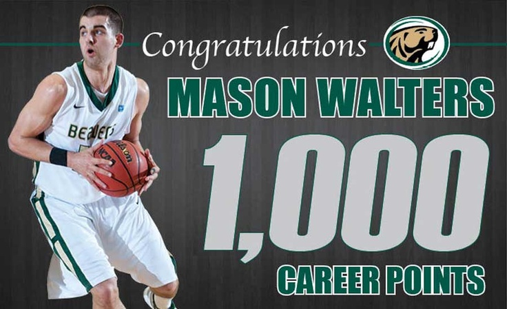 Congrats to Mason Walters, who became the 17th player in Bemidji State men's basketball history to crack 1,000 career points Saturday (2/23/13).