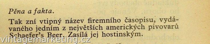 Pěna a fakta – obsahový časopis.