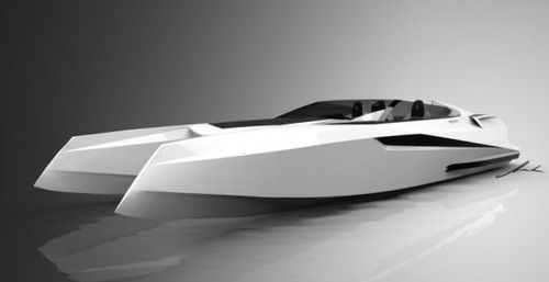 Reinvention V12 powerboat, futuristic yacht, PROVOCOyachts design studio
