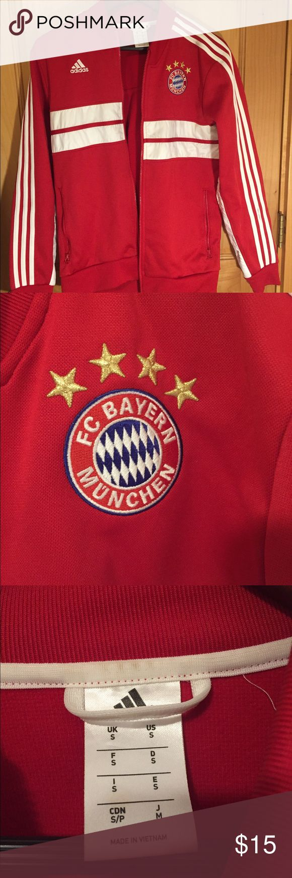 Bayern Munchen Track jacket Awesome track jacket, womens small - show off your team spirit! Adidas Jackets & Coats