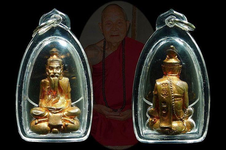 First Batch Lersi Roon Metta Baramee Kruba Oar Wat PhraThad Doi Jom Wai BE2558 第一期鲁士,伦人缘福报,古巴奥瓦帕塔多忠维佛寺,佛历2558(2015年)。铜材质,只做了108尊。佛牌编号31。是为了庆祝师傅100岁生日而制造的。