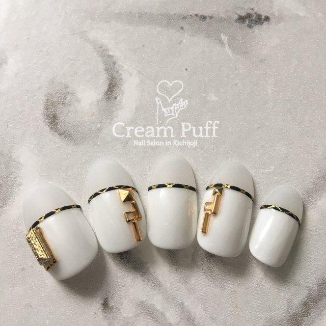 ホワイト - CreamPuffのネイルデザイン[No.2763692] ネイルブック