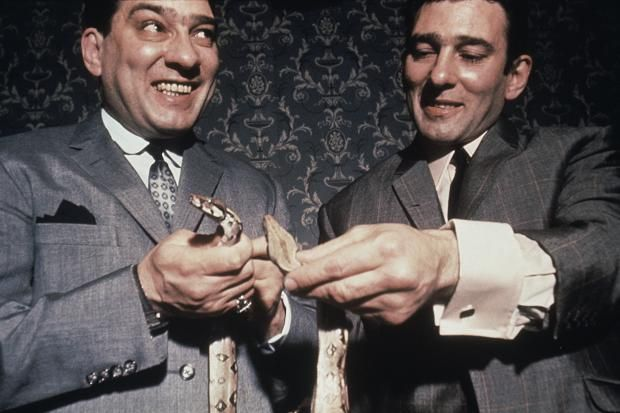 The Kray Twins, 1968. Photographed by David Bailey