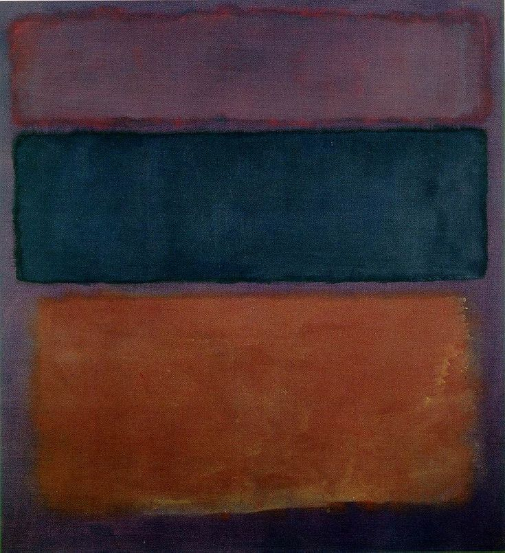 1 Mark Rothko. No. 10: Brown, Black, Sienna, on Dark Wine. 1963 ●彡