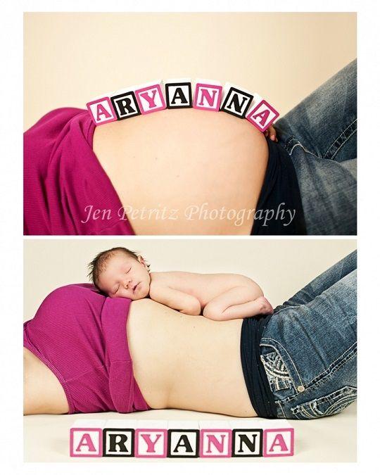 Fotos originales de embarazo y bebé