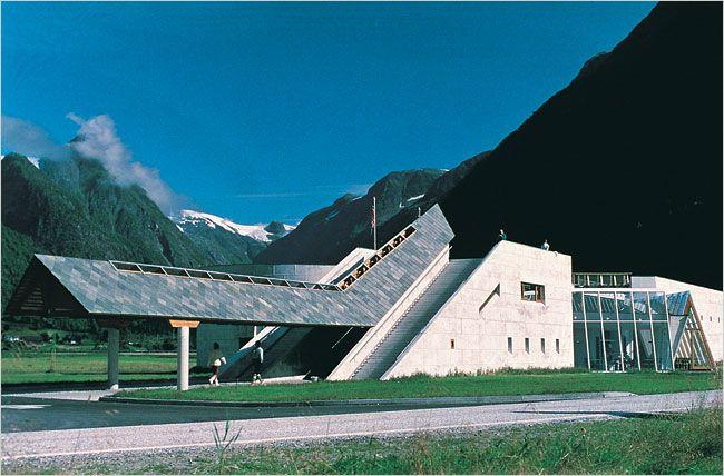 Norsk BreMuseum : Norwegian Glacier Museum, Fjærland Norway (1991) | Sverre Fehn