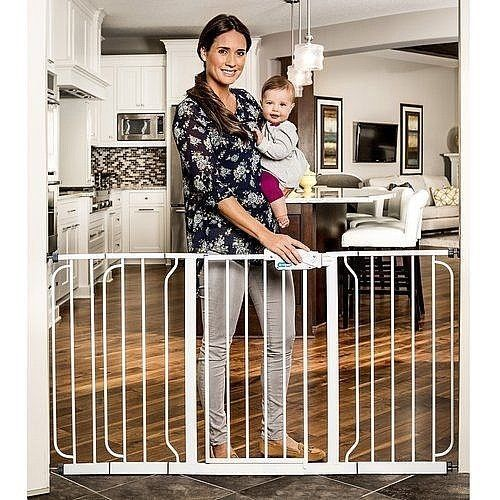"Extra Wide Steel Frame Walk Through Baby Gate 29.5""-58"" For Child Safety New #Regalo"