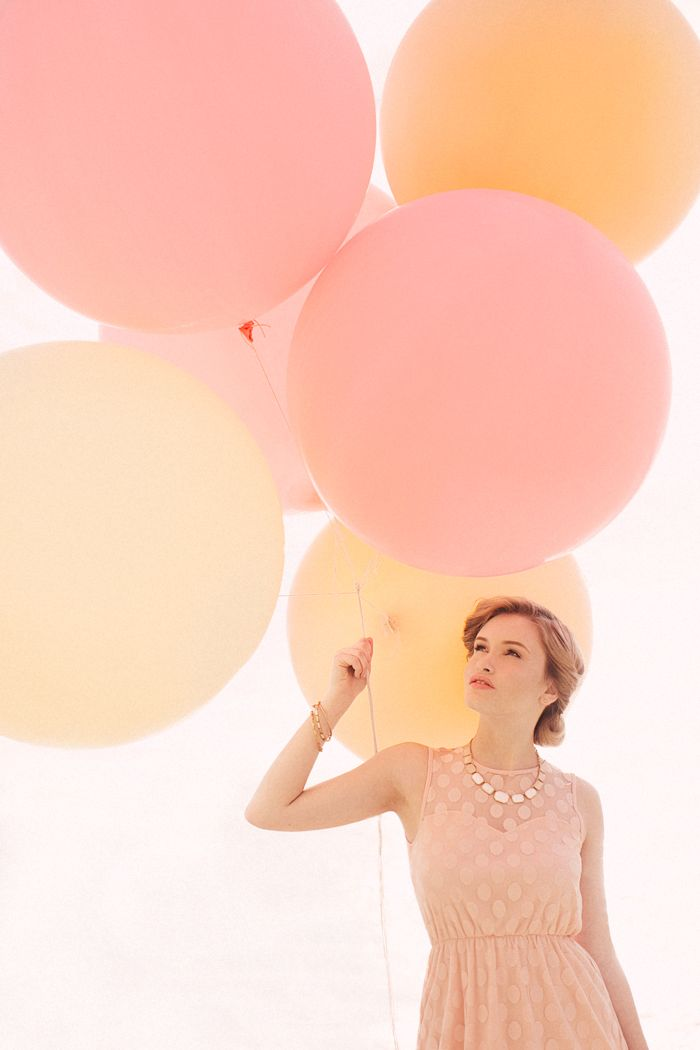 Bridesmaids dress style. Love the big balloons! Everly: Spring 2013