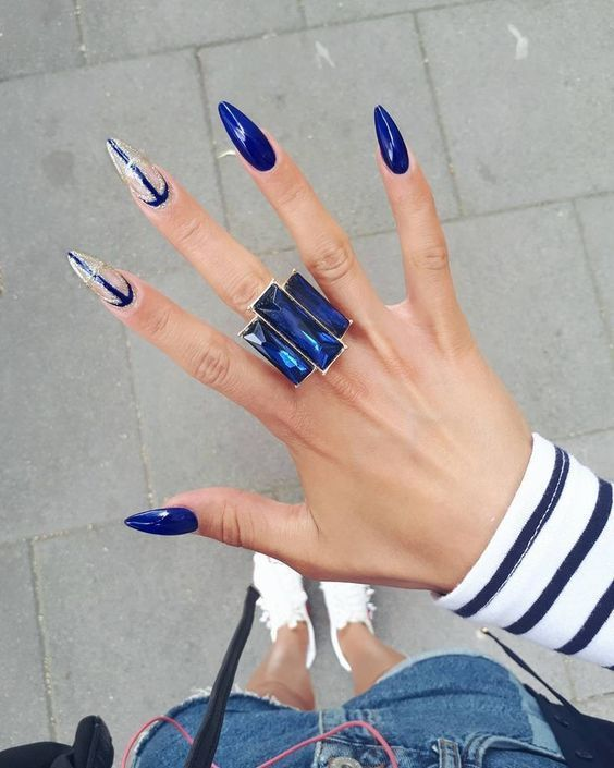 70+ coole und kreative Stiletto Nail Art Designs; Stiletto Nail Designs; Bling St – Nägel