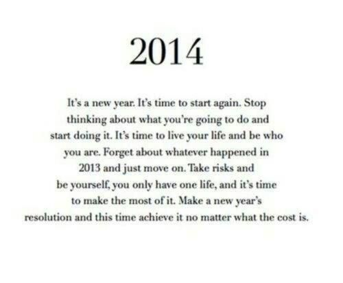 2014 ~ here we come!