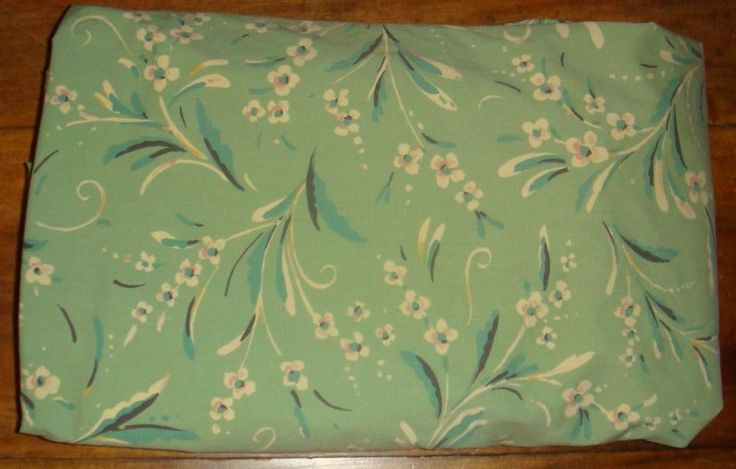 Collier Campbell Gypsy Dance RARE Queen Fitted Sheet Sage Green Floral EUC #CollierCampbell #Southwestern