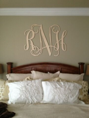 Wood Monogram Letters AboutUs Crafts And Decorations For The - Monogram wall decals wood