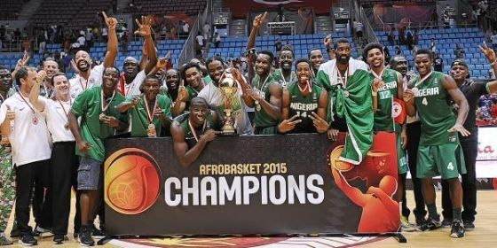 Nigeria basketball team D'Tigers won its first continental title at the 2015 African Basketball Championship which held in Tunisia yesterday August 30th. The basketball team beat defending champions Angola by 74 points to 65.  Their victory at yesterday's match gave them automatic qualification to participate in the 2016 Olympics in Rio Brazil.  Also D'Tigers' shooting guard Chamberlain Oguchi emerged the Most Valuable Player (MVP) of the 2015 Afrobasket championship