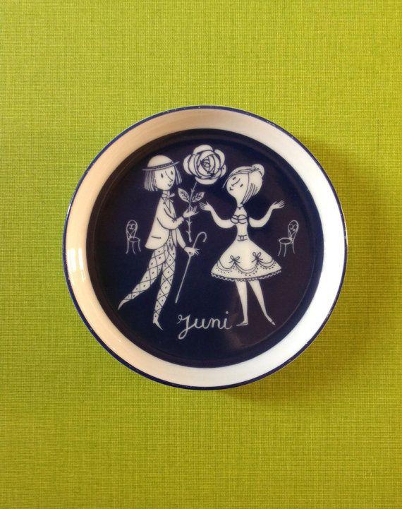 Rosenthal Porcelain Vintage Dish Peynet Two Lovers by PetiteKaty, €14.00
