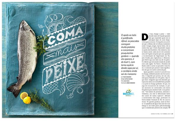 Saúde Mag by Sérgio Bergocce, via Behance
