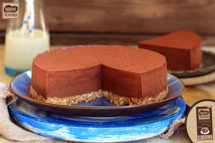 Tarta mousse de chocolate intenso