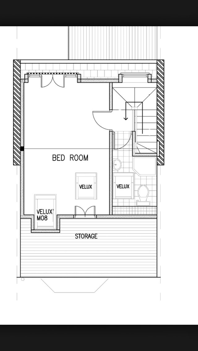 Loft conversion plan edwardian or Victorian terrace