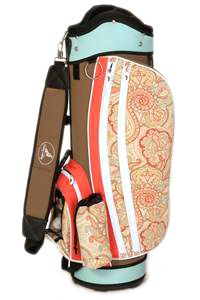 Sassy Caddy Groovy Ladies Golf Bag. A fashionable, light-weight and sturdy women's golf bag featuring all the necessary elements to make the perfect golf bag including : weather resistant fabric, 10 v