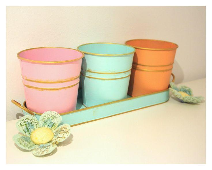Vintage Flower Pots (60 LEI la BFFMyLove.breslo.ro)
