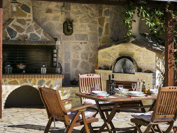 Skala villa rental - BBQ and outdoors table
