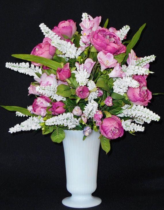 Spring flowers arrangement for a cemetery vase cem flowers mightylinksfo
